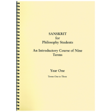 Sanskrit for Philosophy Students Year One